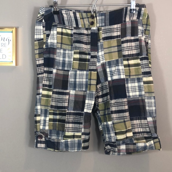 Cambridge Dry Goods Madras Patchwork Short Sz: 10